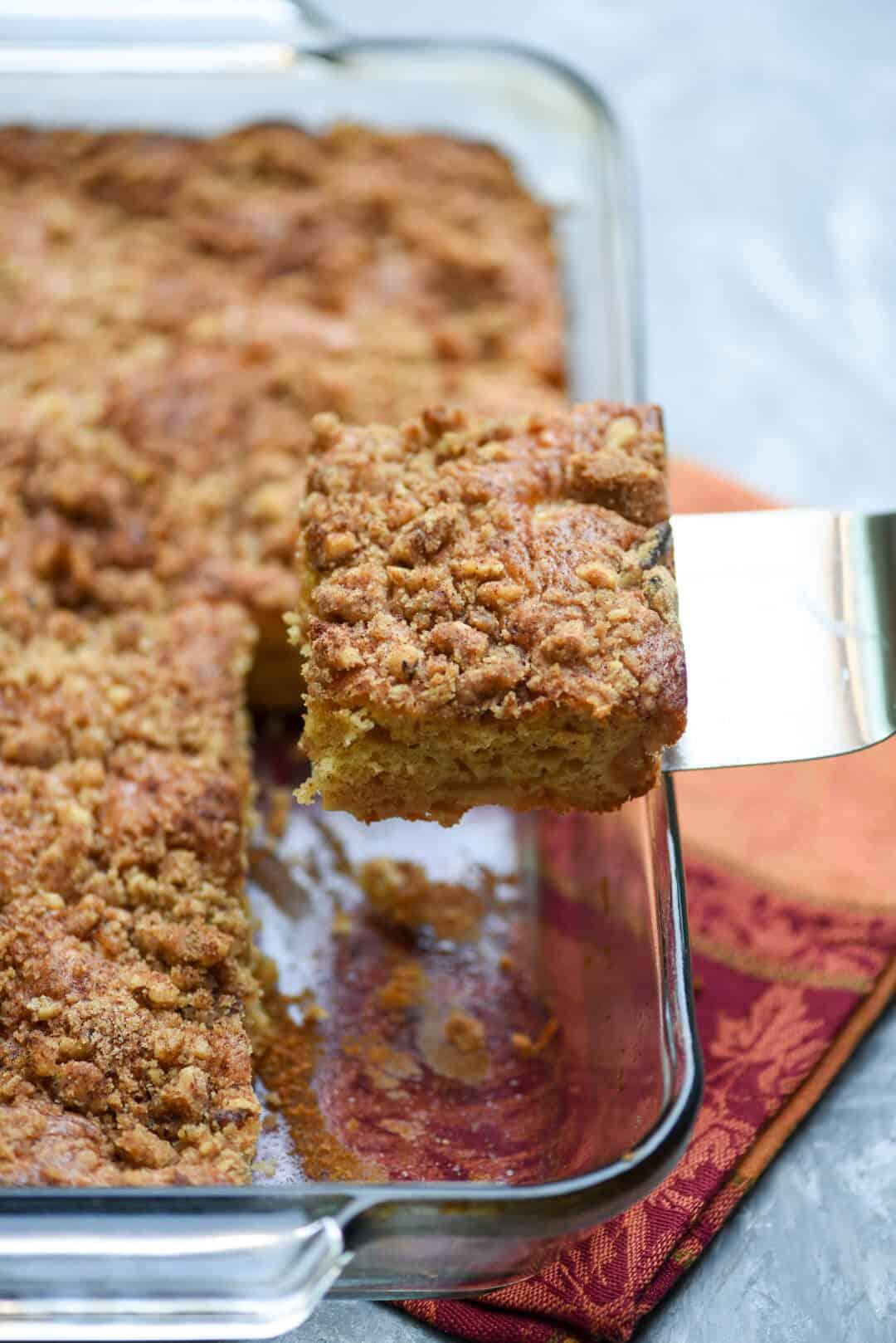Yellow Cake And Apple Filling Streusal Coffee Cake Recipe