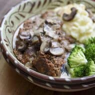 Meatloaf with Stroganoff Sauce