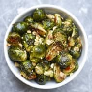 Sweet Chili Garlic Roasted Brussels Sprouts