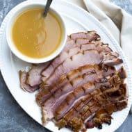 Classic Glazed Ham with Pineapple Sauce