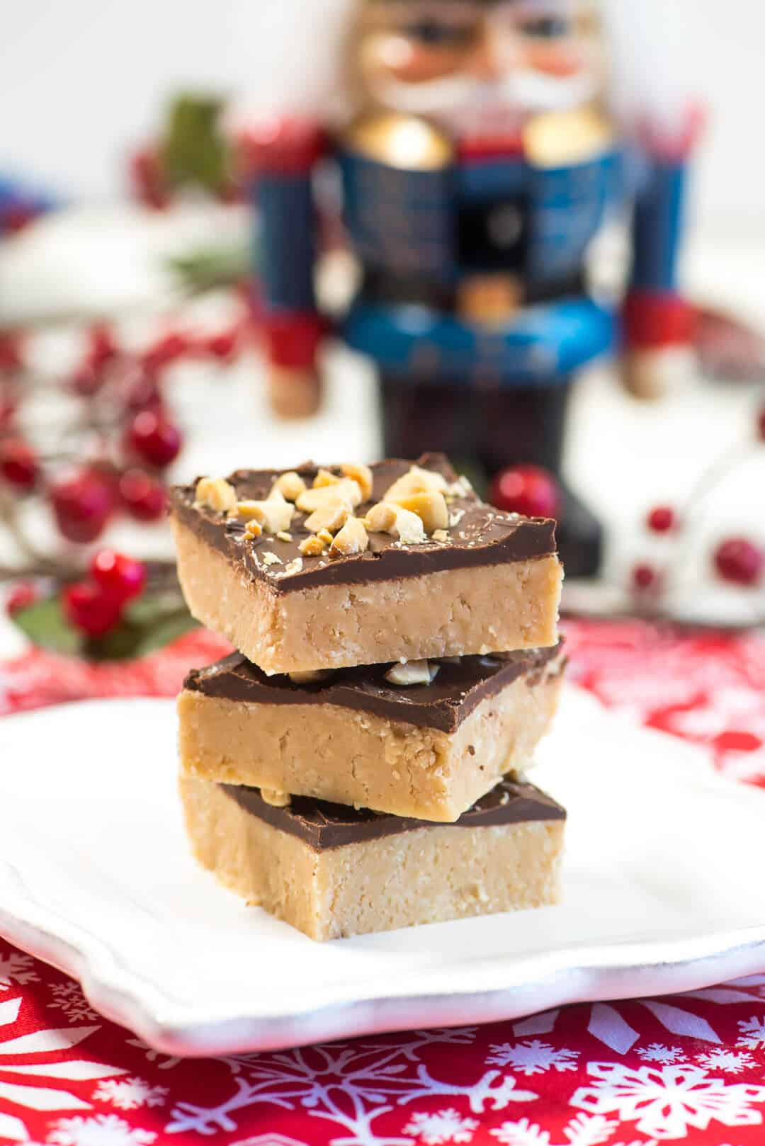 This old-fashioned Peanut Butter Soda Cracker Fudge is easy to make and will be a deliciously unique addition to your holiday baking.