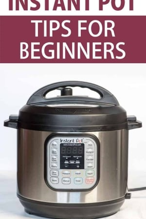 An Instant Pot with text overlay.