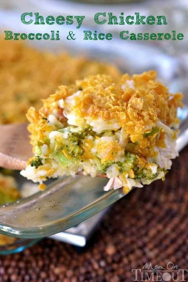 Cheesy Chicken Broccoli and Rice Casserole | 25 Easy Recipes with Rotisserie Chicken