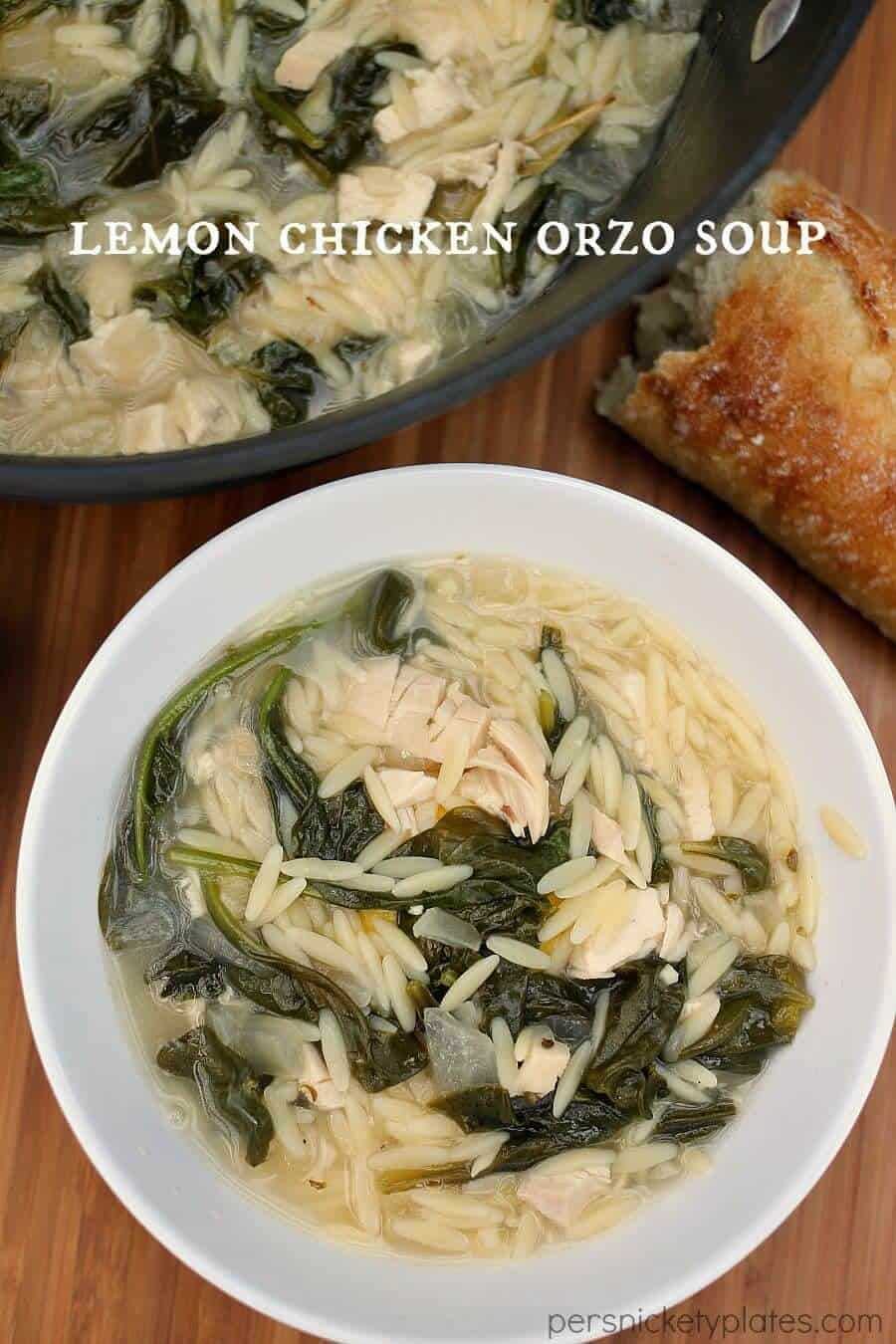 Lemon Chicken Orzo Soup | 25 Easy Recipes with Rotisserie Chicken