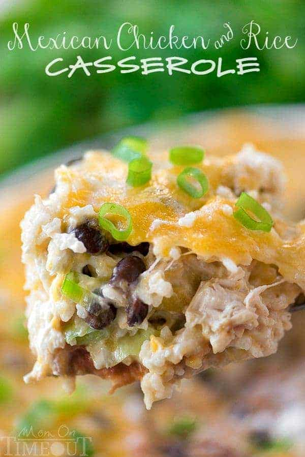 Easy Mexican Chicken and Rice Casserole | 25 Easy Recipes with Rotisserie Chicken
