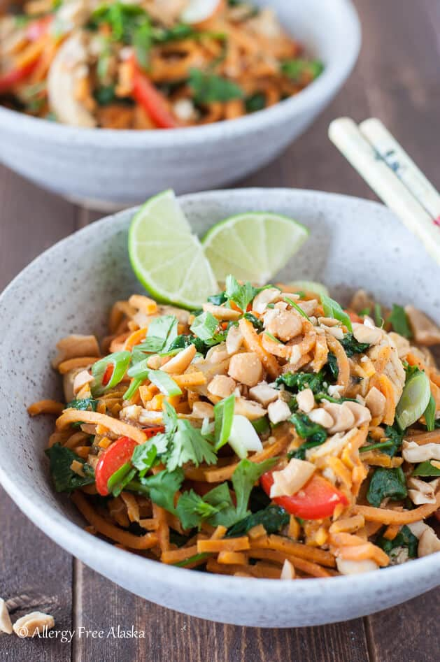 Thai Chicken and Sweet Potato Noodle Bowls | 25 Easy Recipes with Rotisserie Chicken
