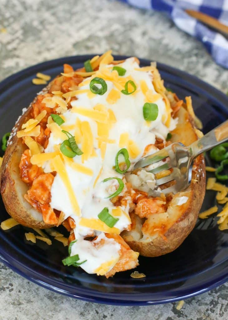 BBQ Chicken Stuffed Baked Potatoes | 25 Easy Recipes with Rotisserie Chicken