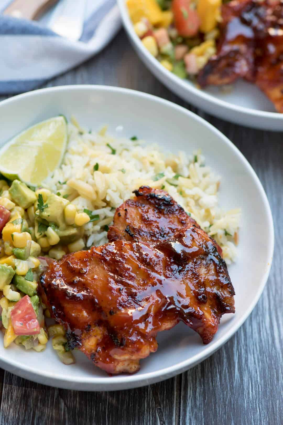 The flavors of smoky chipotle peppers, sweet maple syrup, and bright, fresh lime juice combine in a truly delicious way in this Chipotle Maple Grilled Chicken.