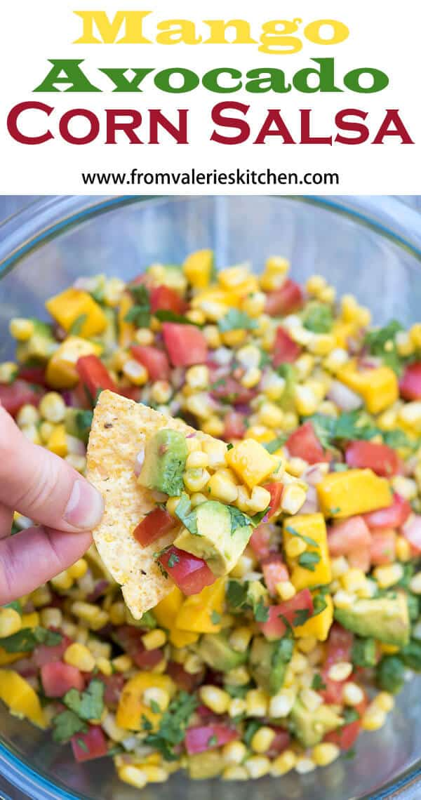 This bright and fresh Mango Avocado Corn Salsa will make a gorgeous addition to your next summer menu. Set it out with a bowl of tortilla chips or spoon it over grilled chicken, steak, or fish for an unforgettable meal.