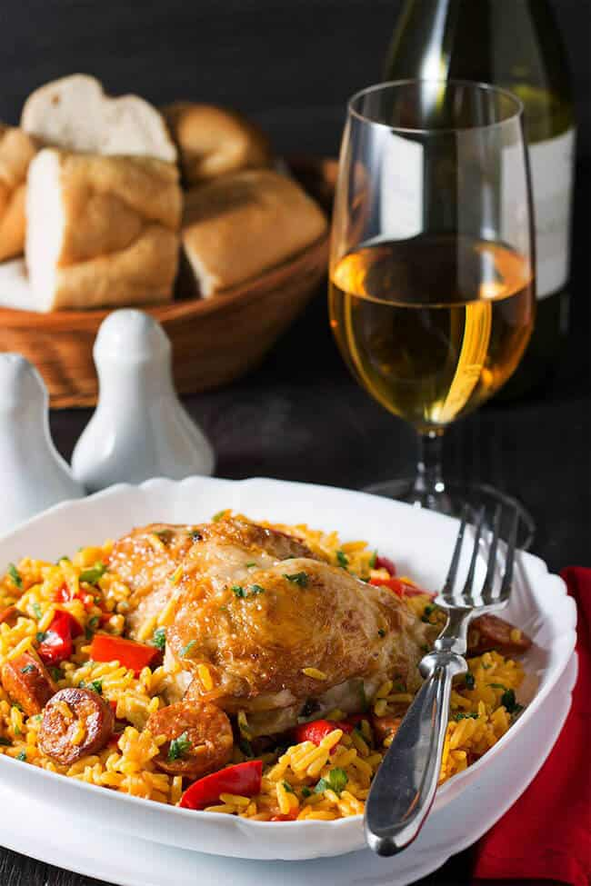 One Pot Chicken and Chorizo Paella | 30 Easy One Pot Recipes for Busy Days