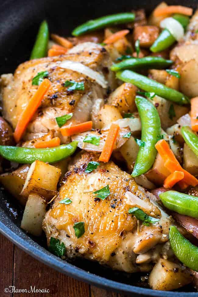 Chicken Vesuvio - Dinner in a Skillet | 30 Easy One Pot Recipes for Busy Days