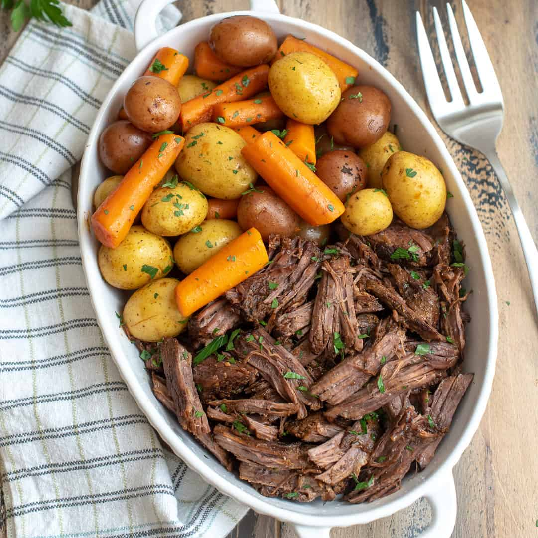 Instant Pot Pot Roast with Carrots and