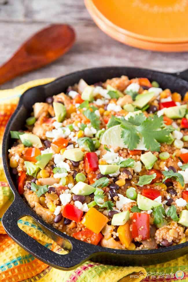 Mexican Quinoa Skillet Dinner | 30 Easy One Pot Recipes for Busy Days