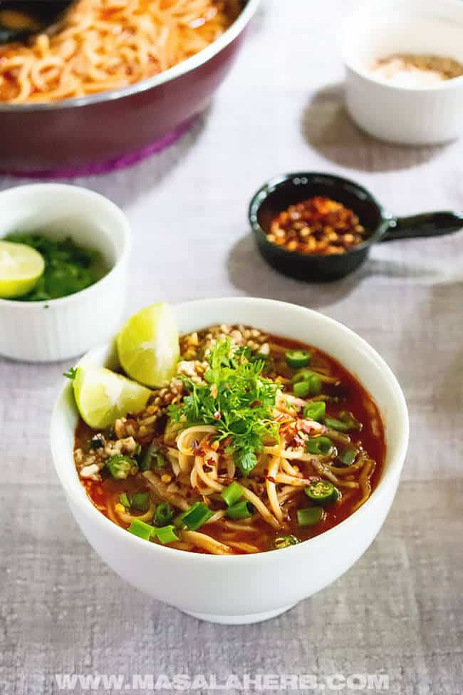 Spicy Thai Noodle Soup Recipe | 30 Easy One Pot Recipes for Busy Days