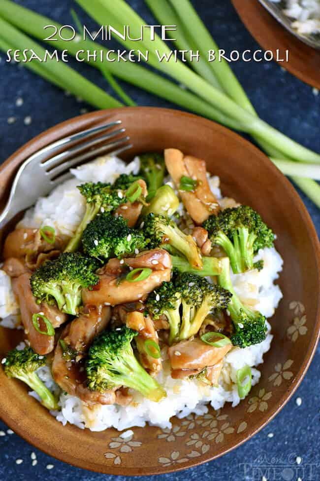 20 Minute Sesame Chicken with Broccoli | 30 Easy One Pot Recipes for Busy Days