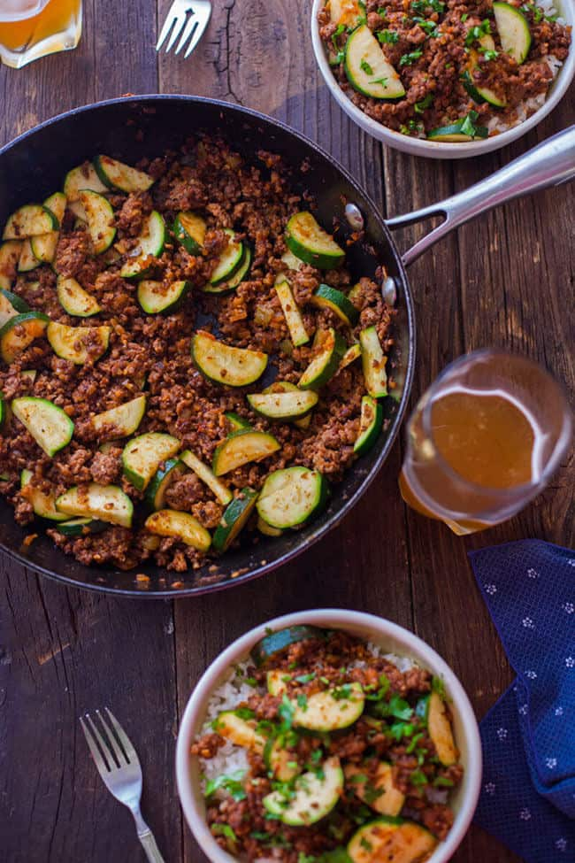 Zucchini Beef Skillet Recipe | 30 Easy One Pot Recipes for Busy Days