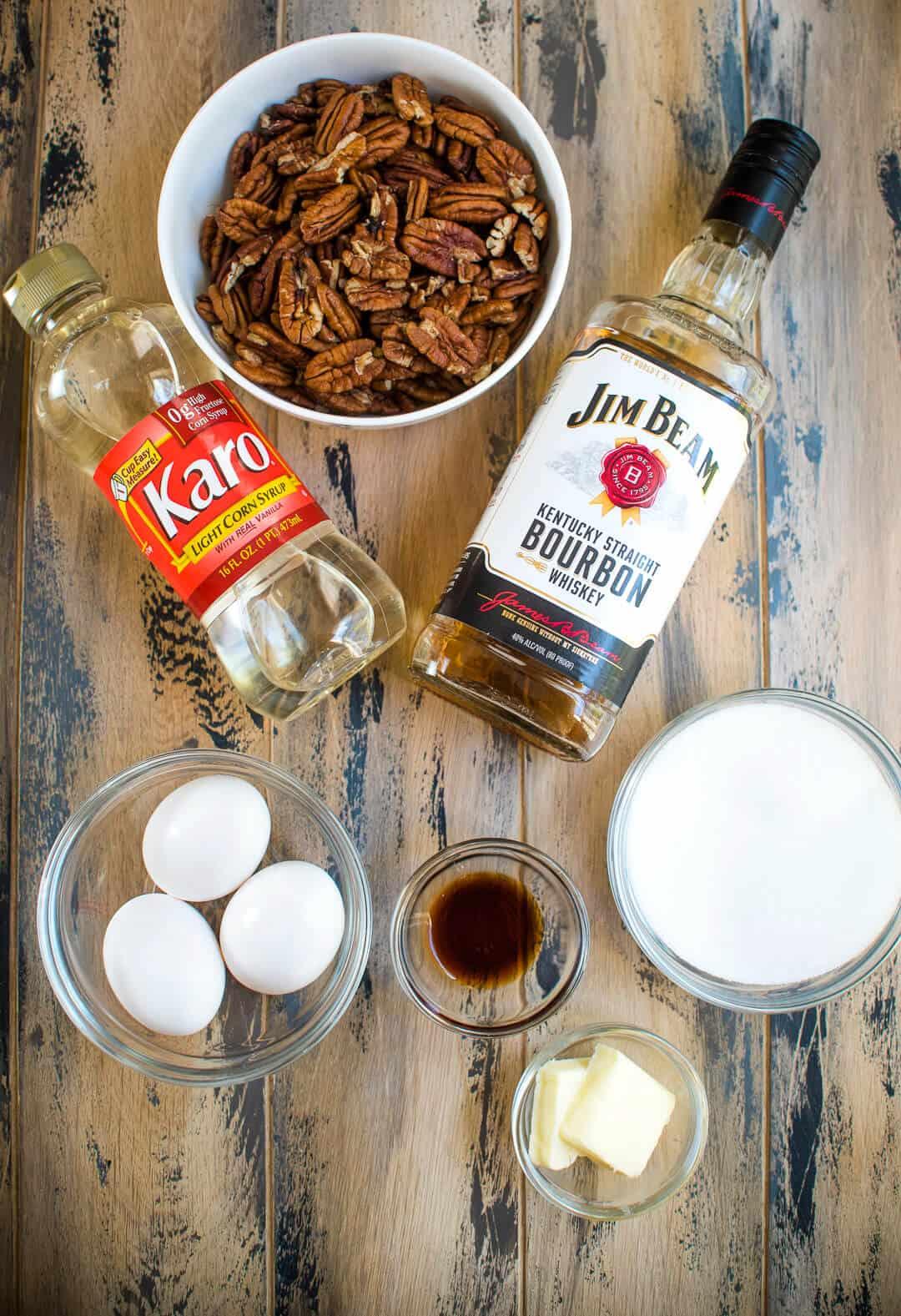 Bourbon Pecan Pie - Ingredients