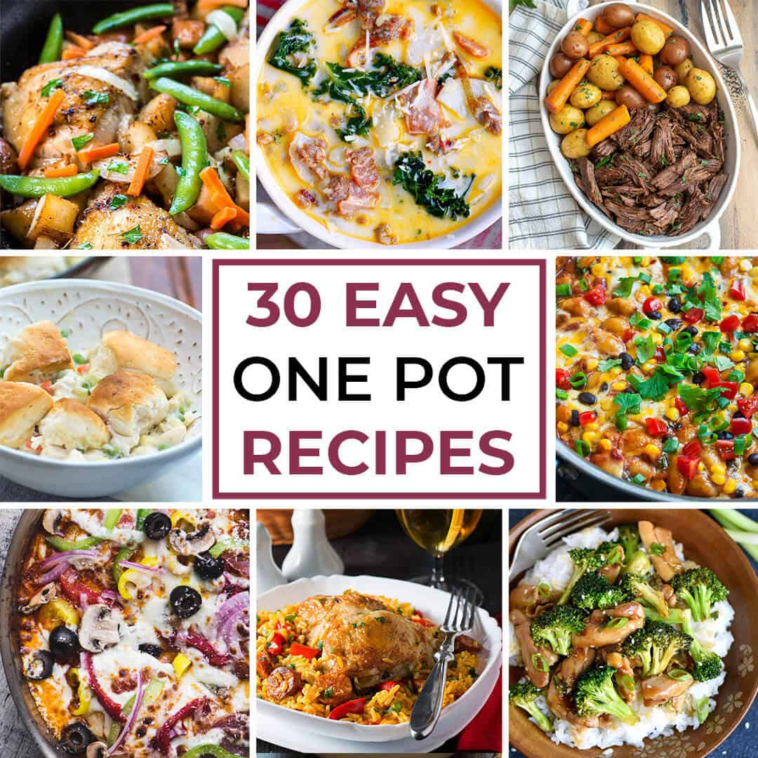 Comfort abounds in this collection of 30 Easy One Pot Recipes for Busy Days. These easy, low-stress meal options will help you cook at home even on those crazy, busy days!