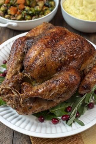 Dry Brine Turkey with Garlic Butter Rub