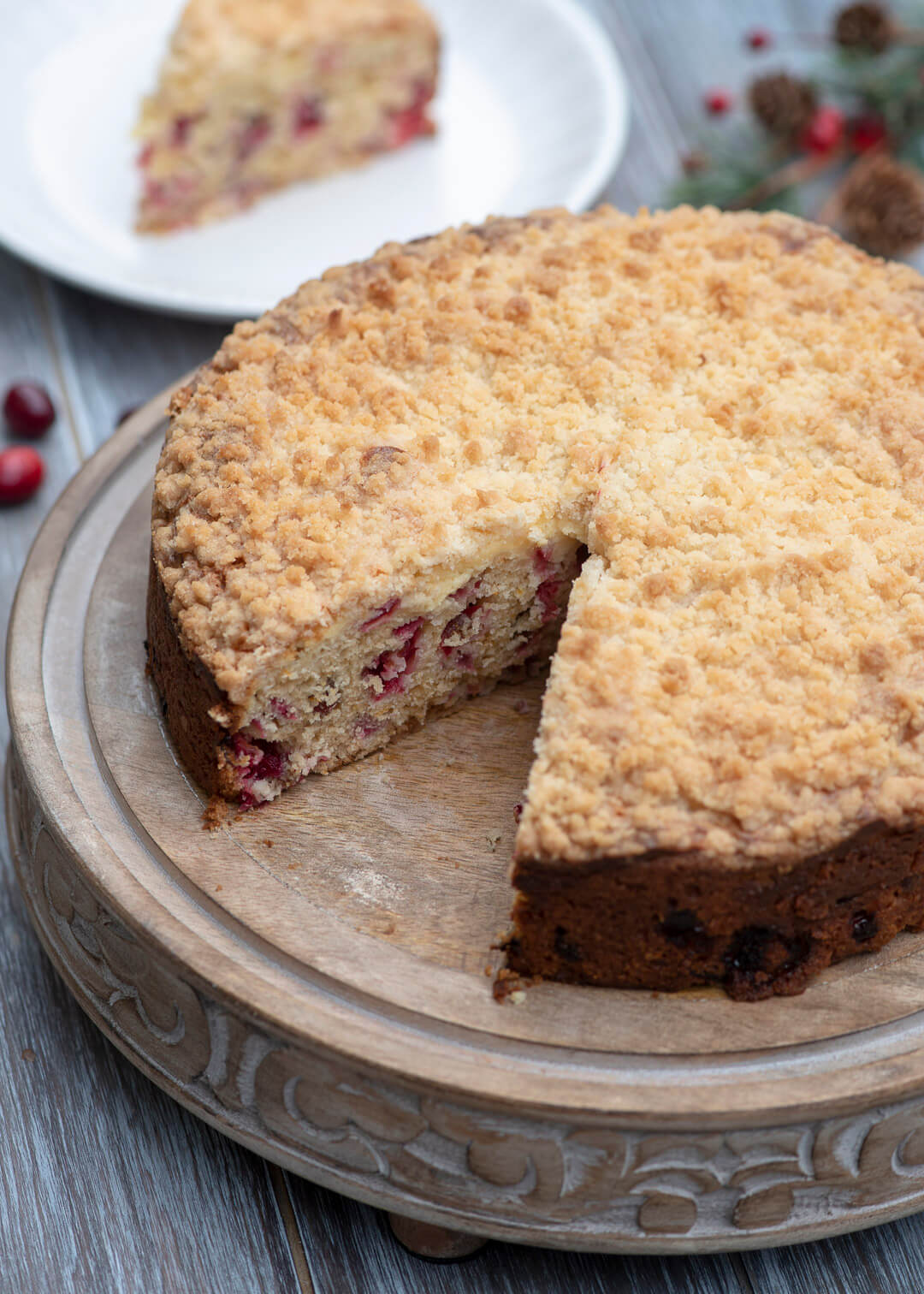 Cream Cheese Cranberry Coffee Cake Valerie S Kitchen