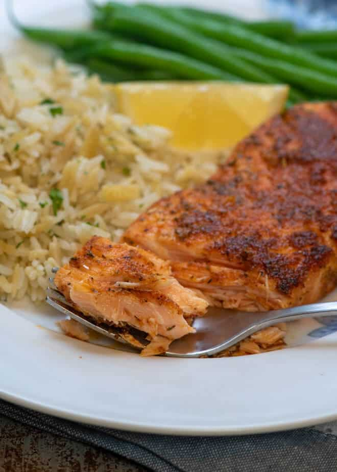 A homemade Cajun seasoning mix adds amazing flavor to this Blackened Salmon. A restaurant quality meal that is quick and easy enough to make any night of the week.