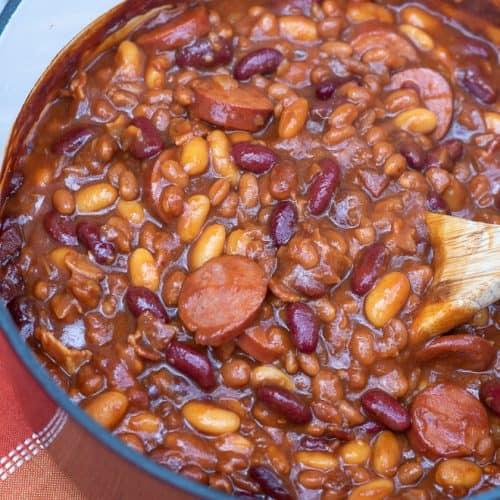 Kielbasa Baked Beans | Valerie's Kitchen
