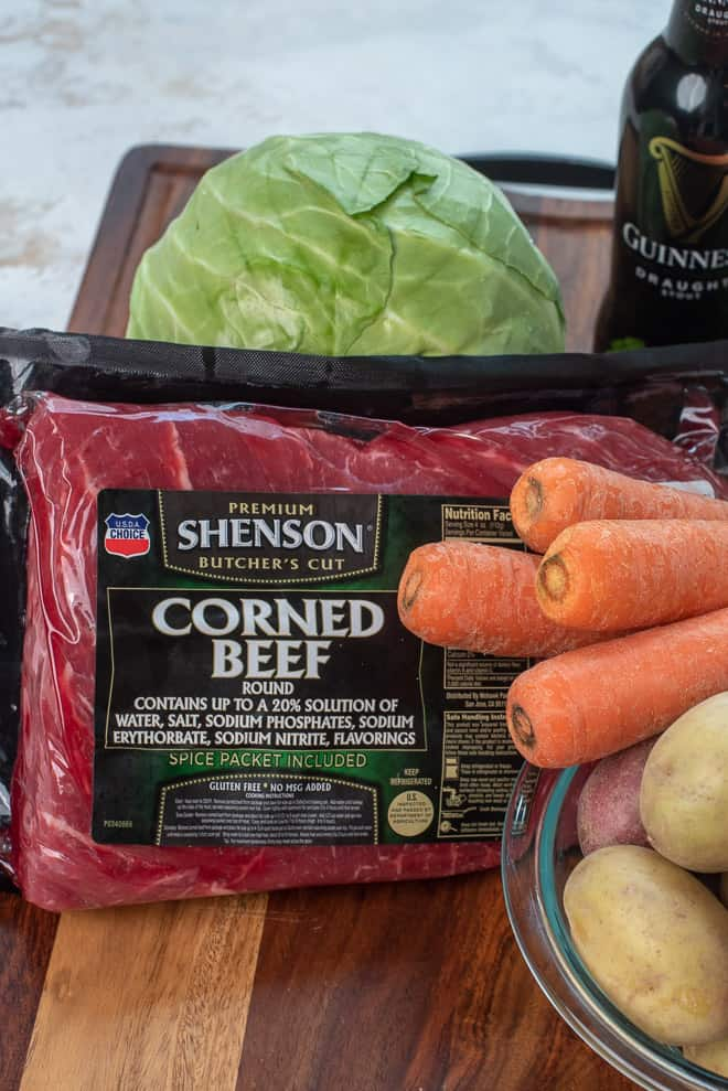 A Shenson Corned Beef Round from Costco